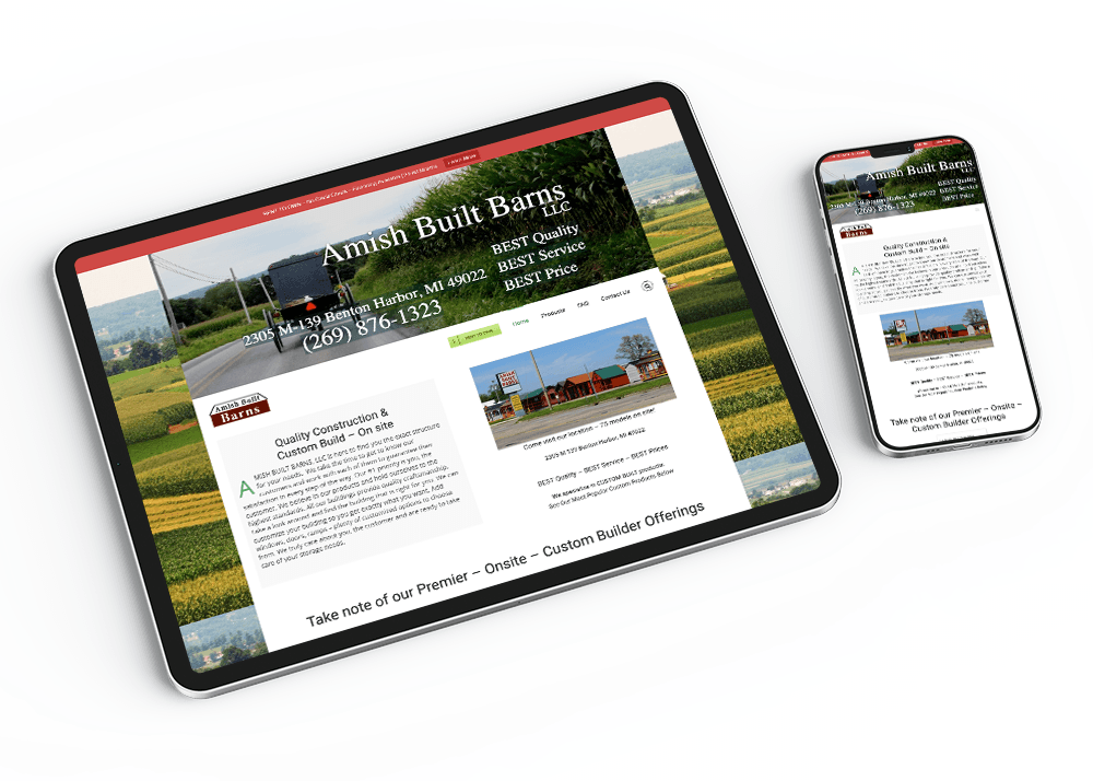 Amish Built Barns-Responsive